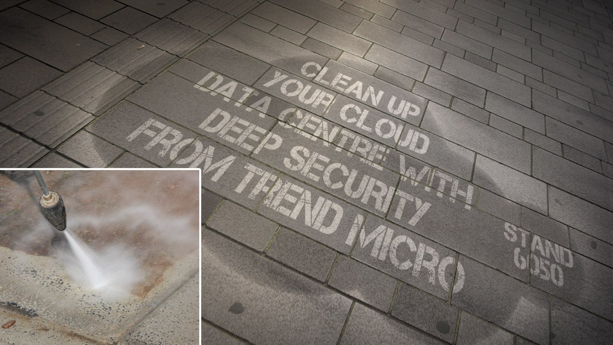 clean graffiti guerrilla marketing